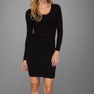 Anthropologie black bodycon long sleeves dress